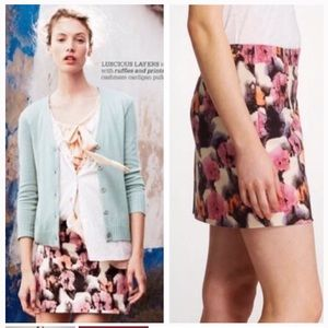 J Crew Stretch Watercolor Potpourri Mini Skirt 6